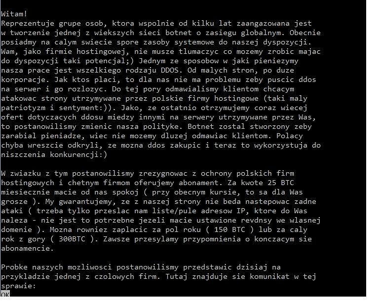List szantażystów