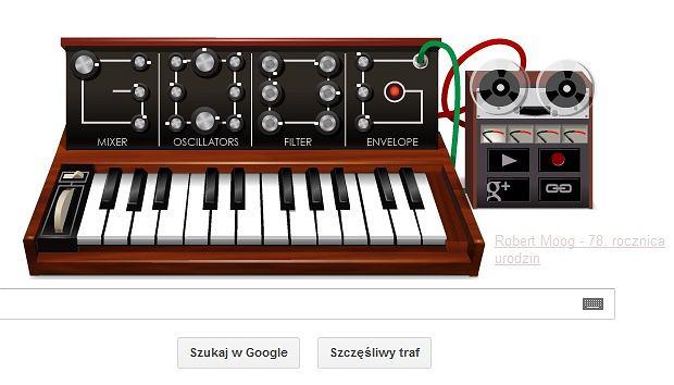 Google Doodle na 78. rocznicę urodzin Roberta Mooga