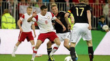 Polska - Niemcy w Gdańsku w 2011 r. Robert Lewandowski