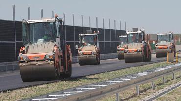 Prace na odcinku C autostrady A2 ze Strykowa do Konotopy pod Warszawą