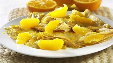 Naleśniki zapiekane pomarańczowe
