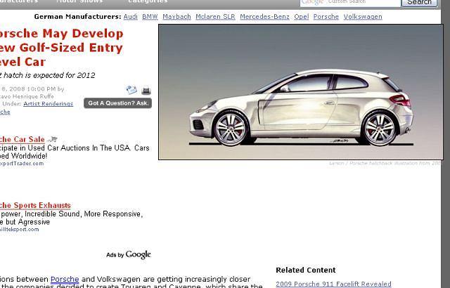 Porsche hatchback