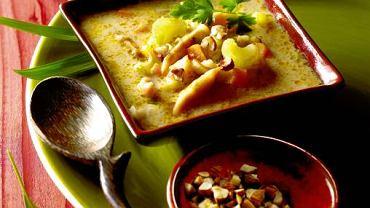 Indyjska zupa z kurczakiem
