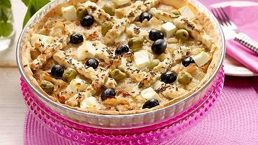 Tarta śródziemnomorska z oliwkami