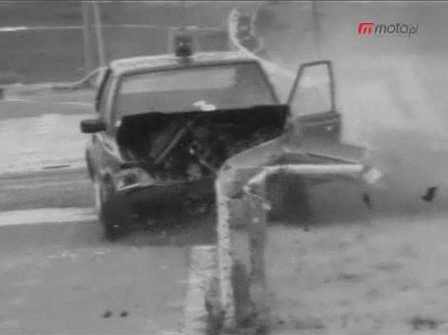 Crash test bariery drogowej