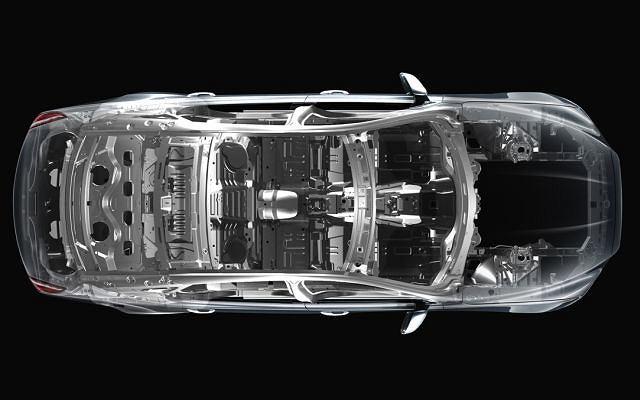 Jaguar XJ - struktura nadwozia