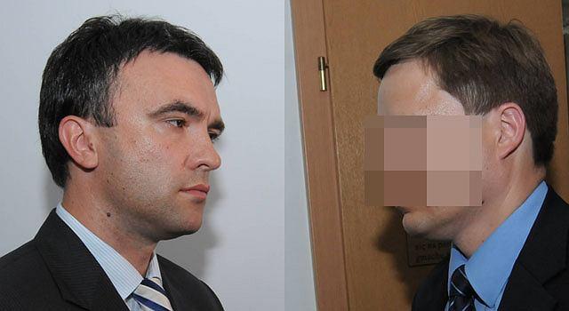 Piotr Ryba (L) i Andrzej K.