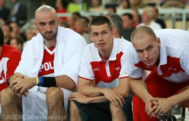 Marcin Gortat, Krzysztof Roszyk i Maciej Lampe