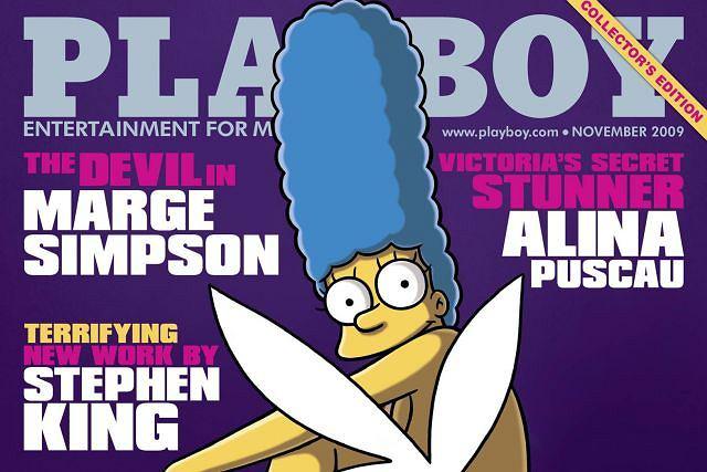 Marge Simpson na okładce Playboya. Fot. REUTERS/HO