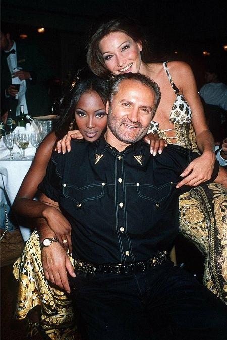 Gianni Versace Naomi Campbell i Carla Bruni
