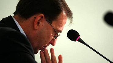 Mariusz Kamiński podczas przesłuchania