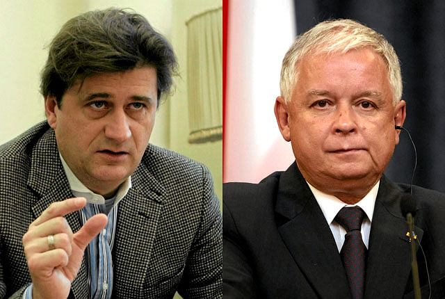 Janusz Palikot i Lech Kaczyński