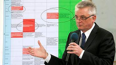 Mirosław Drzewiecki broni się przed komisją hazardową