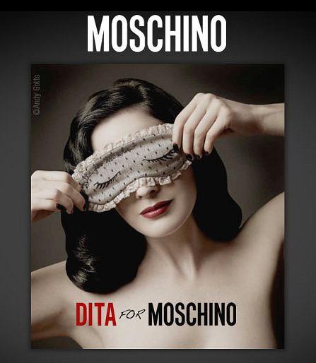 Dita von Teese dla Moschino