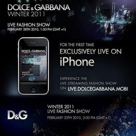 Dolce Gabbana pokaz online