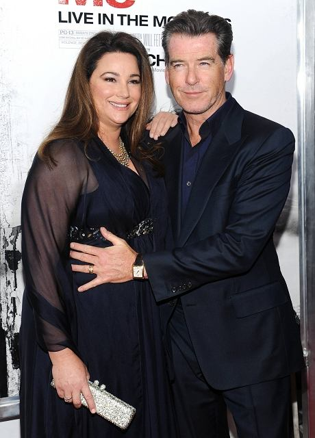 Actor Pierce Brosnan and wife Keely Shaye Smith attend the premiere of 'Remember Me' at the Paris Theater on Monday, March 1, 2010 in New York. (AP Photo/Evan Agostini)
