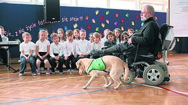 Pies Samba pomaga niepełnosprawnym