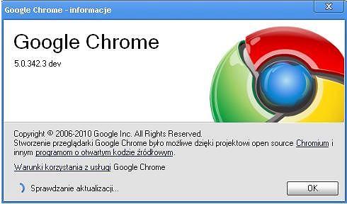 Aktualizacje w Google Chrome
