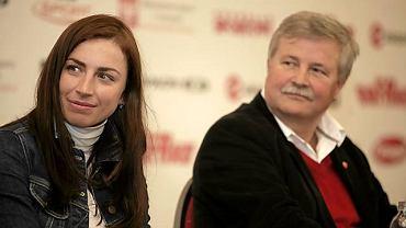 Justyna Kowalczyk i Apoloniusz Tajner