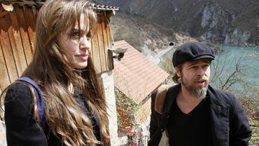 Angelina Jolie i Brad Pitt w Bośni