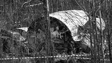 Szczątki rozbitego samolotu Tu-154