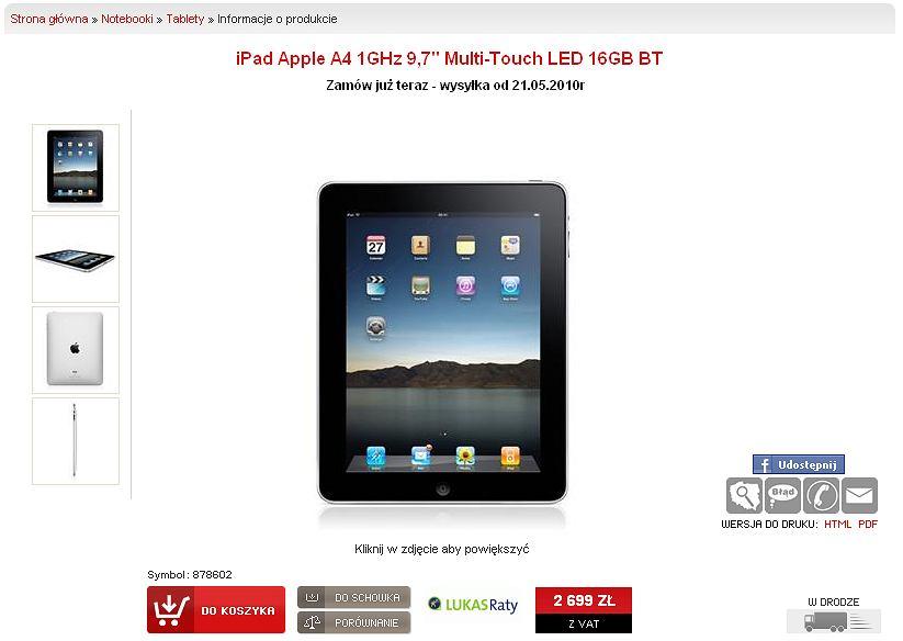 iPada można kupić w Polsce