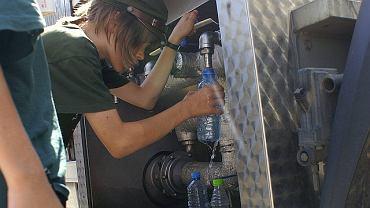 Beczkowóz z wodą pitną