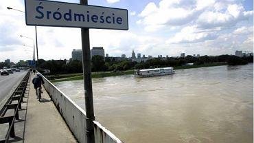 Warszawa przystań przy Moście Łazienkowskim
