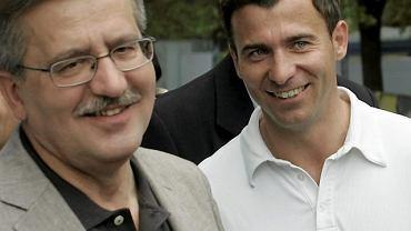 Wojciech Olejniczak i Bronisław Komorowski na spotkaniu z olimpijczykami, 12 czerwca