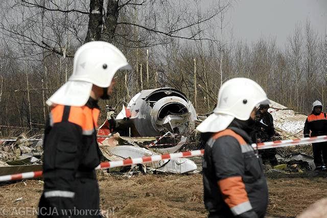 Miejsce katastrofy polskiego samolotu prezydenckiego Tu-154
