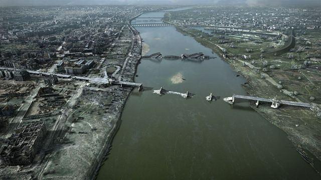 Zburzone mosty na Wiśle