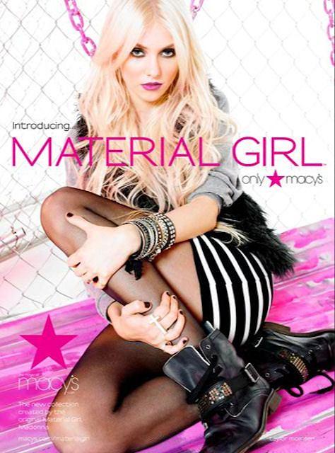 Taylor Monsen w kampanii Material Girl