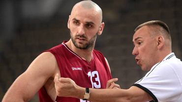 Marcin Gortat i trener Igor Griszczuk
