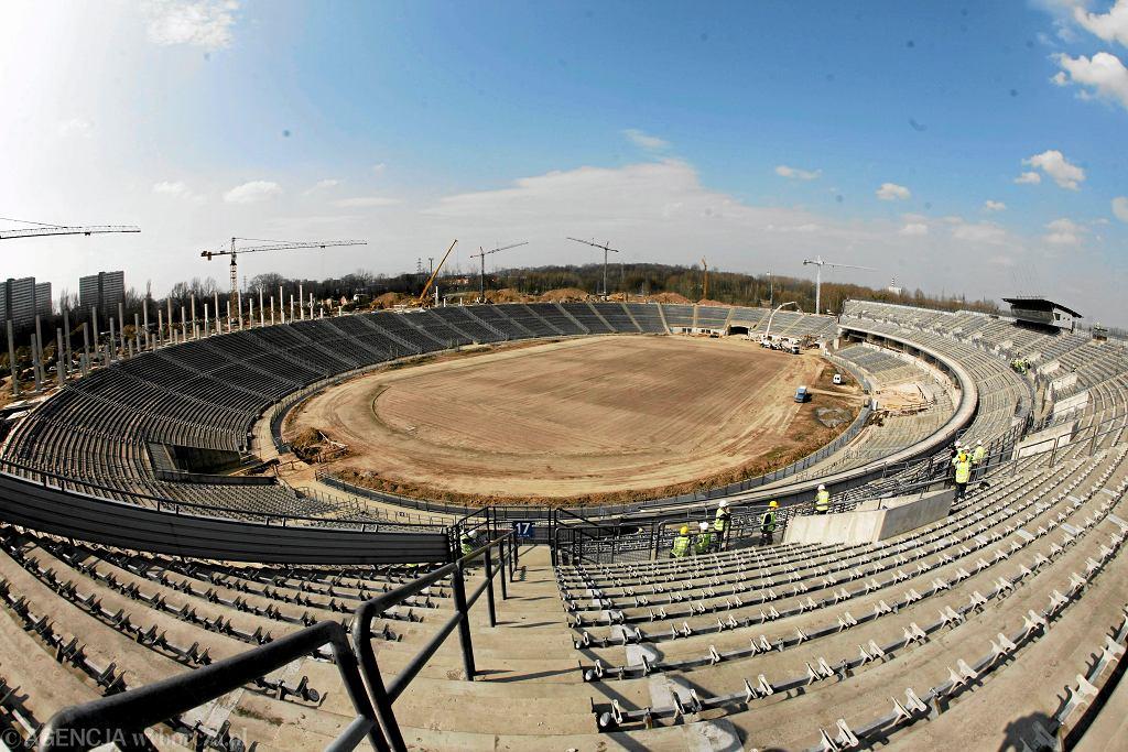 Remontowany Stadion Śląski - marzec 2010
