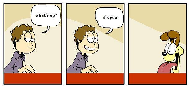 Komiks stworzony przez Ultimate Garfield Generator (somethingawful.com)