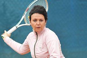 Małgorzata Pieńkowska gra w tenisa
