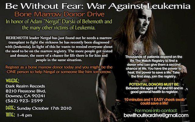 Plakat akcji poszukiwania dawcy dla Nergala.