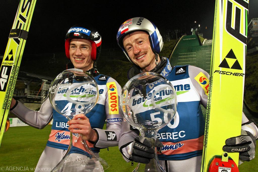 Kamil Stoch i Adam Małysz w sezonie 2010/2011