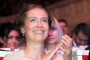 Na sobotnim kongresie Janusza Palikota zjawili się znani politycy i tysiące popierających polityka młodych ludzi. Mało kto zauważył, że na widowni siedziała żona Janusza Palikota.