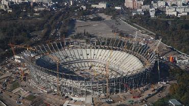 Budowa Stadionu Narodowego - zdjęcia z 12 października 2010 r.