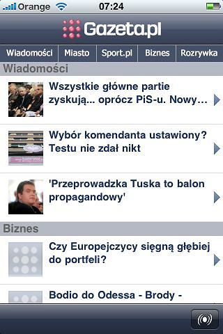 Aplikacja Gazeta.pl na iPhone'a
