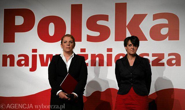 Elżbieta Jakubiak i Joanna Kluzik-Rostkowska