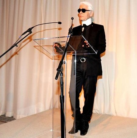 Karl Lagerfeld - 15 November 2010 - 2010 CFDA / VOGUE Fashion Fund Awards held at Skylight Studios, NYC. Photo Credit: Neil Rasmus / BFAnyc/Sipa Press/cfdabfasipa.022/1011161620