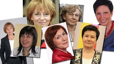 Grażyna Dziedzic, Agata Fisz, Hanna Zdanowska, Anna Milczanowska, Małgorzata Mańka-Szulik, Hanna Gronkiewicz-Waltz, Iwona Wieczorek