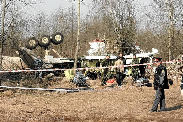 Wrak tupolewa w Smoleńsku