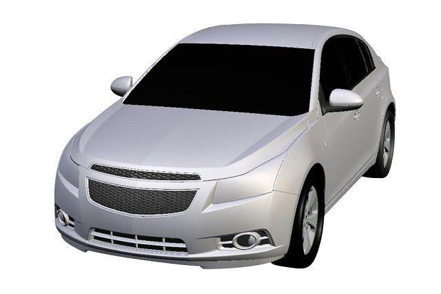 Chevrolet Cruze Hatchback - szkice patentowe