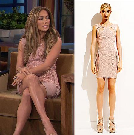 Styczeń 2011: Jennifer Lopez w sukience Hervé Léger by Max Azria Resort 2011