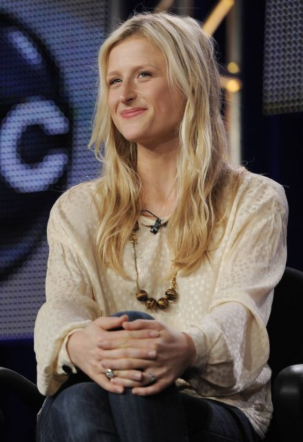 "Mamie Gummer, daugher of actress Meryl Streep and a cast member in the ABC series ""Off the Map,"" is pictured during a panel discussion on the show at the Disney ABC Television Critics Association winter press tour in Pasadena, Calif., Monday, Jan. 10, 2011. (AP Photo/Chris Pizzello)"