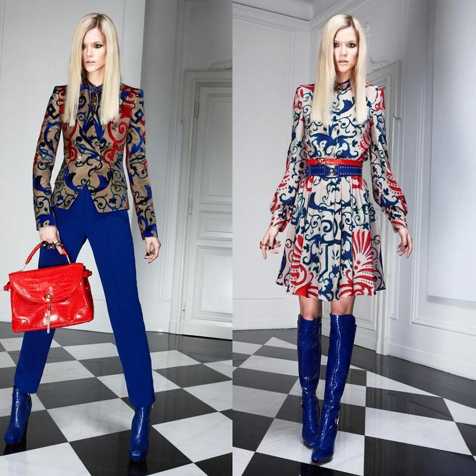 Kasia Struss w kreacjach z kolekcji Versace pre-fall 2011