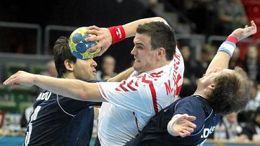 15 stycznia, Geteborg, Michał Jurecki podczas meczu Mistrzostw Świata w piłce ręcznej Polska - Argentyna.